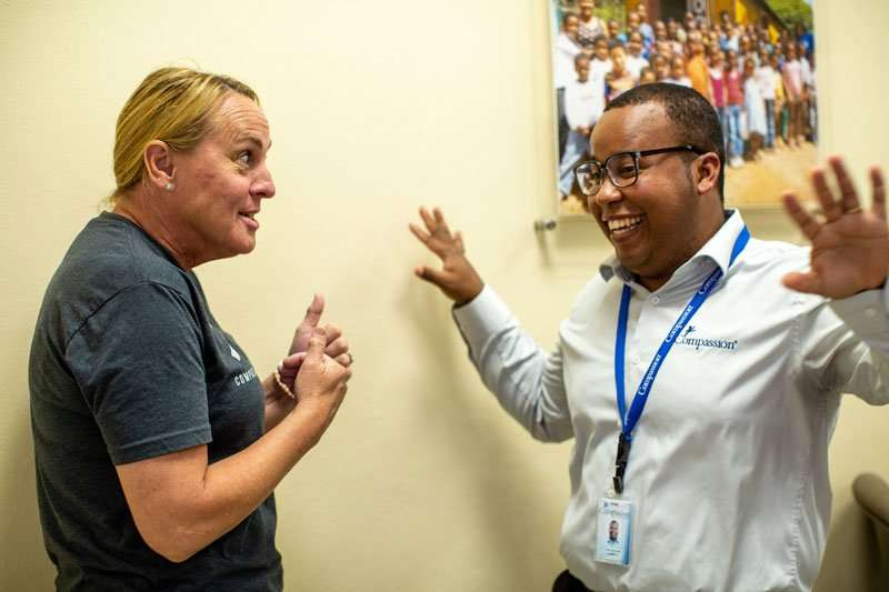 Billie and a compassion doctor in the Dominican Republic