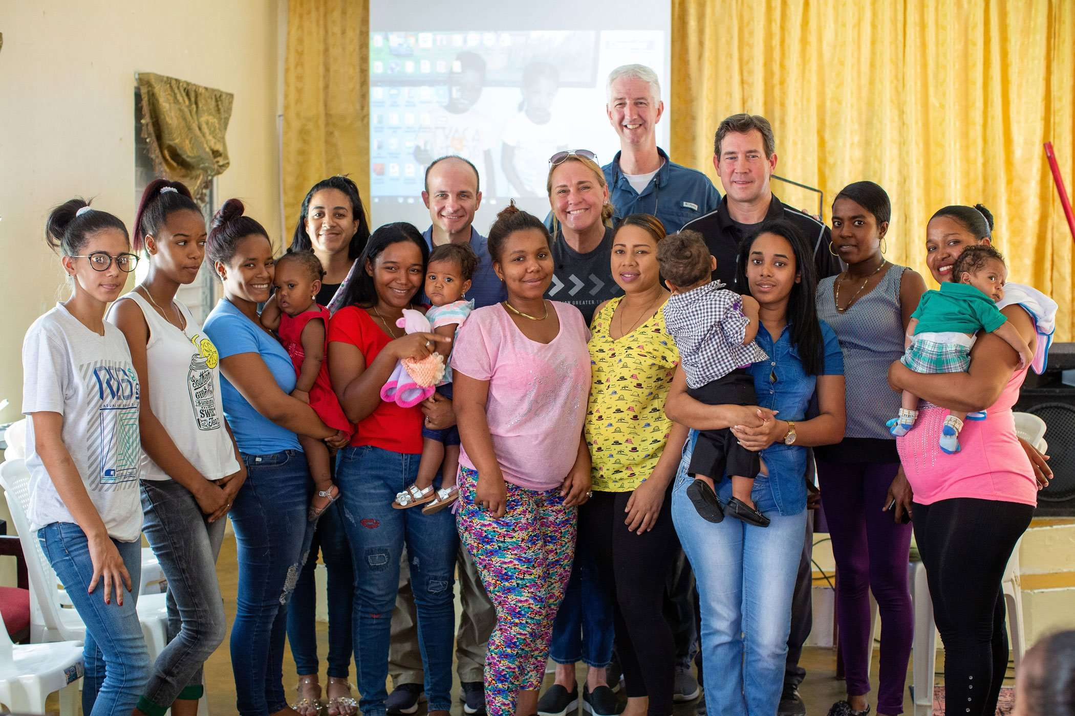 Billie with a group at compassion Dominican Republic